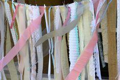 Burlap WEDDING Fabric GARLAND