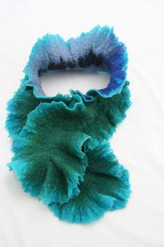 Felted scarf by Angellum1 on Etsy, $35