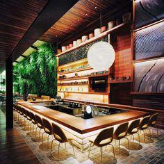Arthur Casas - KAA Restaurant, São Paulo SP, Brazil....   HOBBY DECOR   hobbydecor   #design #paisagismo #decoração #deco #decor#design #designdeinterior