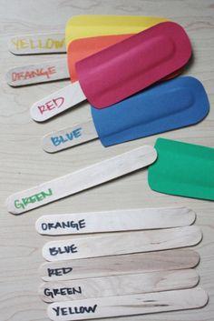 Una idea diferente para enseñar los colores