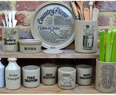 Pearsons of Chesterfield stoneware Vintage Crockery, Kitchenware, Tableware, Brown Furniture, Bottles And Jars, Baking Ingredients, Cookie Dough, Vinegar, Stoneware