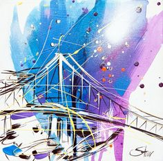Story Bridge Brisbane, Bridge, Adventure, Artist, People, Painting, Animals, Image, Animales
