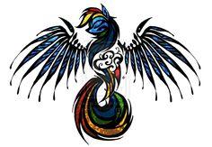 Rainbow Dash stained glass tribal tat by Skrayle.deviantart.com on @DeviantArt