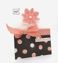 """I used the """"Petal Potpourri Set & the Flower Medallion Punch from Stamping' Up!"""