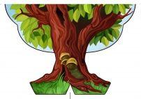 Картинка дерева для оформления детского сада. Лето