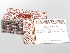 Contemporary business card design, ideal for teacher training services. Customise a range of business card templates online for print at http://brunelone.com/premium-business-cards/designs