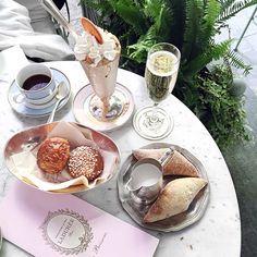 Breakfast at Ladurée.