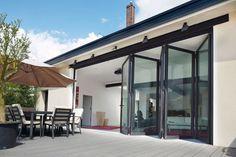 Bifold Doors are the UK's fastest growing home improvement product. Bifolds are folding sliding doors that open up an entire wall to really give your home that wonderful … Continued Aluminium Glass Door, Aluminium Sliding Doors, Sliding Glass Door, Glass Doors, Aluminium Windows, Aluminium Alloy, Casement Windows, Windows And Doors, Folding Patio Doors