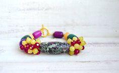 Mrs_Leyla / Náramok z minerálov - Boho Style Boho Fashion, Beaded Bracelets, Jewelry, Style, Swag, Bohemian Fashion, Jewlery, Jewerly, Pearl Bracelets