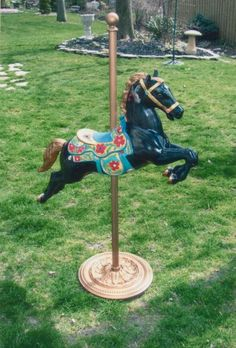 my carousel horse I painted Carosel Horse, Rocking Horses, Tv Westerns, Work Family, Hobby Horse, Merry Go Round, Carousels, Horse Riding, Doll Accessories