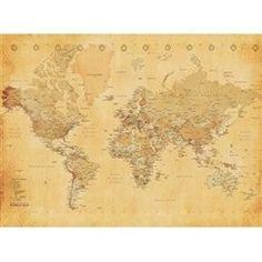Old Map Fotobehang 232 x 315 cm