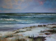 """Daily Paintworks - """"Beach, Contemporary Seascape Paintings by Amy Whitehouse"""" - Original Fine Art for Sale - © Amy Whitehouse"""