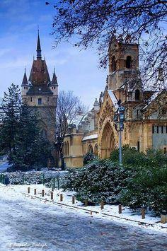 Budapest, Városliget  Vajdahunyad- vára Cathedrals, Palaces, Czech Republic, Hungary, Romania, Travel Ideas, Denmark, Barcelona Cathedral, Belgium