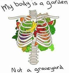 mon corps est un jardin, pas un cimetière ! My body is a garden, not a graveyard! #végétalien #govegan #compassion