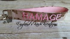 Name tape keychain. See this and many other samples in our Etsy shop.**Items ship within 2 business days of ordering.** Enter coupon code: PIN10 at checkout to receive 10% of your entire purchase. Follow us on Twitter at: twitter.com @englandskk