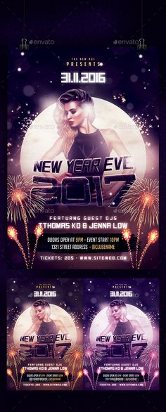 New Years Eve Party Flyer   Flyer Template Flyers And Parties