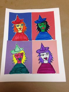 Andy Warhol inspired Halloween monsters #art