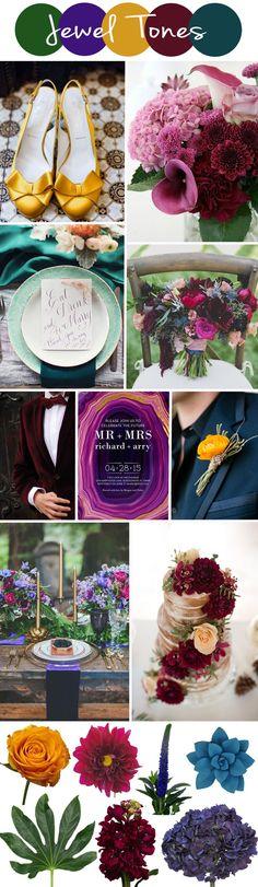 FiftyFlowers Jewel Tone Wedding Inspiration