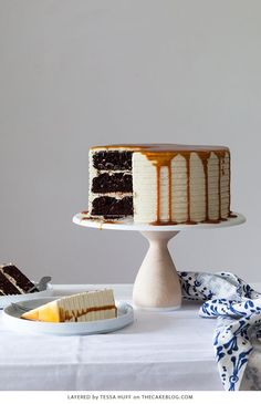 London Fog Cake: chocolate cake with Earl Grey buttercream + salted caramel, a recipe from the new cake book Layered by Tessa Huff. Amazing Chocolate Cake Recipe, Best Chocolate Cake, Chocolate Icing, Sweet Recipes, Cake Recipes, Cake Blog, New Cake, Fashion Cakes, Let Them Eat Cake