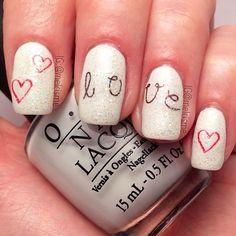 valentine by melcisme #nail #nails #nailart