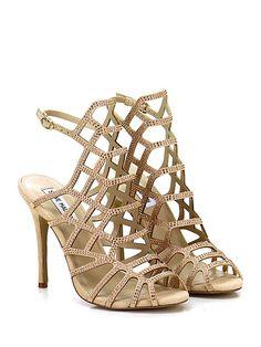Steve Madden - Sandalo alto - Donna - Sandalo alto in pelle con cinturino  alla caviglia ccd911c2ff3