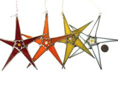 Petite Posey Star- stained glass star 5.5- 6 inches