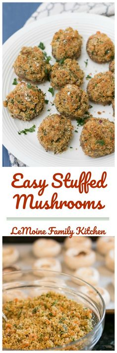 These Easy Stuffed Mushrooms are perfect as an appetizer or side dish. Keep this one around for the holidays- everyone is going to love these mushrooms! Mushroom Appetizers, Cold Appetizers, Quick And Easy Appetizers, Potluck Recipes, Side Dish Recipes, Appetizer Recipes, Side Dishes, Friend Recipe, Thing 1