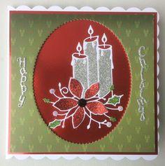 Memory Box poinsettia die with Rob Addams sentiment. Christmas Candle, Christmas 2017, Memory Box Cards, Poinsettia, Card Ideas, Candles, Memories, Holiday Decor, Memoirs