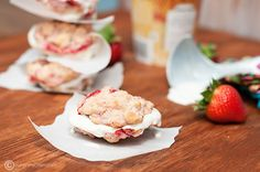 strawberry shortcake cookies and ice cream sandwiches