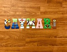Items similar to Toy Story Custom Letters - Woody, Buzz Lightyear, Forky, Wooden Letters, Wall Decorations on Etsy Toy Story Theme, Toy Story Birthday, Toy Story Party, 3rd Birthday, Cumple Toy Story, Festa Toy Story, Toys For Tots, Toys For Girls, Painted Letters