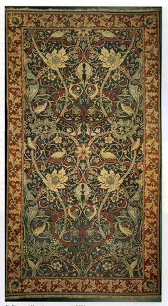 'Bullerswood' carpet design by William Morris and John Henry Dearle, produced in 1889.
