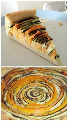 Meerdere mensen vroegen mij naar het recept van de wortel-courgette-taart die op de foto van onze high-tea stond. Tijd dus om het ook hier te plaatsen. Ingrediënten Hartige taart deeg (zijn plakjes...