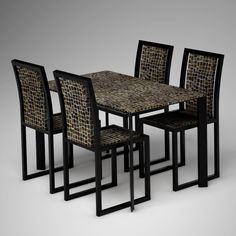 Ivory Vegetal Design Table & Chair_Random Toasted