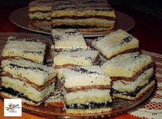 Orchidea szelet, nálunk ez lett a legújabb favorit! Poppy Cake, Hungarian Recipes, Hungarian Food, Cakes And More, Tiramisu, Cheesecake, Goodies, Dessert Recipes, Yummy Food