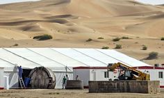 Crews roll out an object believed to be part of the set of the latest Star Wars film somewhere in Abu Dhabi. Photograph: Mona Al Marzooqi/The National/GC Images Best Sci Fi Films, John Boyega, Star Wars Pictures, Episode Vii, Star Wars Film, Star Wars Episodes, Outdoor Gear, Stars, Image