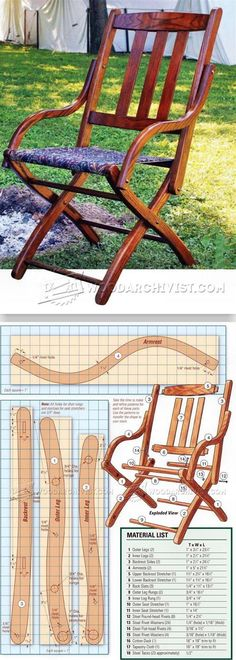 Civil War Chair Plans - Outdoor Furniture Plans and Projects | WoodArchivist.com