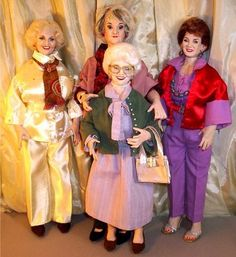 """Celebrity Dolls Made in America by Alesia: """"The Golden Girls"""" Dolls !"""