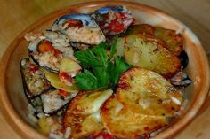 Tiella Barese - baked mussels with rice and potatoes, wonderful wonderful dish from Southern Italy