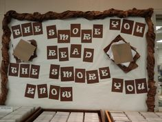 Cute camping display idea: Smore bulletin board