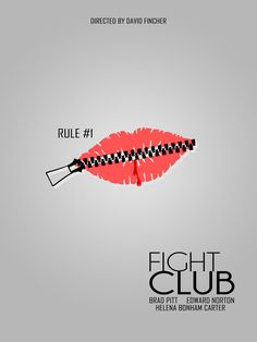Fight Club - A minimal movie poster Minimal Movie Posters, Minimal Poster, Cool Posters, Club Poster, Movie Poster Art, Film Movie, Fight Club Brad Pitt, Fight Club Rules, Marla Singer