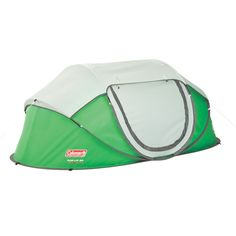 Great for festivals and car camping, the Coleman Pop-Up Tent sets up in as little as 10 seconds, letting you get back to the fun. This camping tent is uniquely designed with preassembled poles, allowing the tent to pop into place in a snap. Pop Up Camping Tent, Table Camping, Hiking Tent, Best Tents For Camping, Cool Tents, Backpacking Tent, Camping Gear, Campsite, Camping Equipment