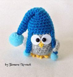 Owls in hats amigurumi PDF ebook crochet pattern от Nowacrochet