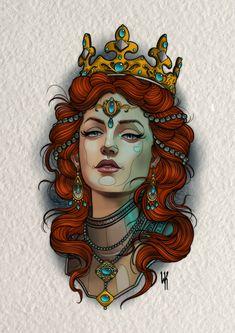Neo Traditional Art, Traditional Tattoo Woman, Traditional Tattoo Old School, Traditional Tattoo Design, Traditional Tattoo Flash, American Traditional, Traditional Tattoo Reference, Neo Tattoo, Tattoo Motive