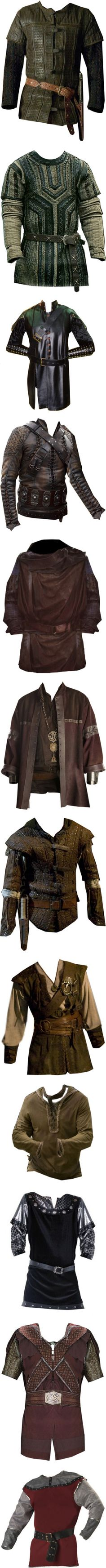 Medieval Men II by savagedamsel on Polyvore featuring mens, medieval, men, fantasy, tops, costumes, male clothes, accessories, armor and jackets