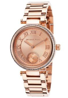 MICHAEL-KORS-MK5971-WOMENS-MINI-SKYLAR-ROSE-GOLD-TONE-SS-WATCH-NEW-275