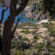 Die kleine Strandbucht von Lissos liegt zwischen den Ortschaften Paleochora und Sougia. Lissos ist nur über Wanderwege und das Meer erreichbar.