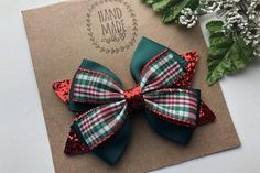 Christmas Hair Bows, Plaid Christmas, Boutique Hair Bows, My Boutique, Halloween Hair Clips, Denim Hair, Pink Hair Bows, Tutu Costumes, Glitter Hair
