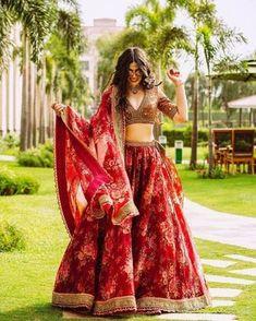 Lehenga choli for women maroon Organza silk wedding bridal | Etsy Indian Lehenga, Red Lehenga, Sabyasachi Lehenga Bridal, Bollywood Lehenga, Lehenga Style, Sabyasachi Dresses, Red Sari, Dress Indian Style, Indian Fashion Dresses