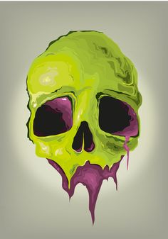 Liquid Skull Art Print* (i want the bottom half of this skull with my eyes and nose. Memento Mori, Totenkopf Tattoos, Skeleton Art, Skull Design, Skull Print, Skull And Bones, Art Plastique, Dark Art, Cool Art