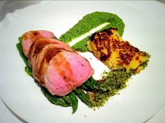 Maple and Orange Pork, Pea Pesto and Potato Rosti. - Fine Dining Recipes | Food Blog | Restaurant Reviews | Fine Dining At Home